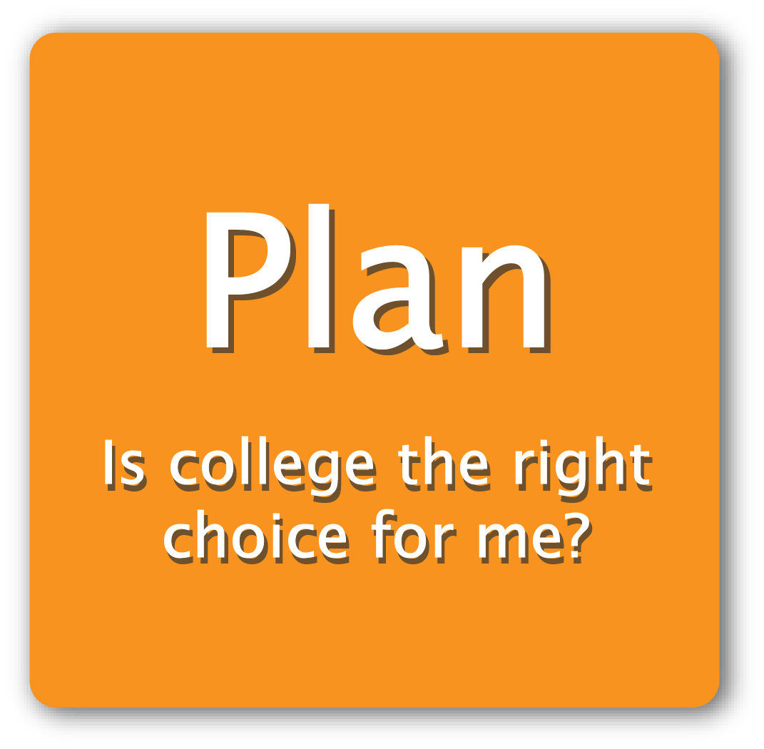 Plan: Is college the right choice for me?