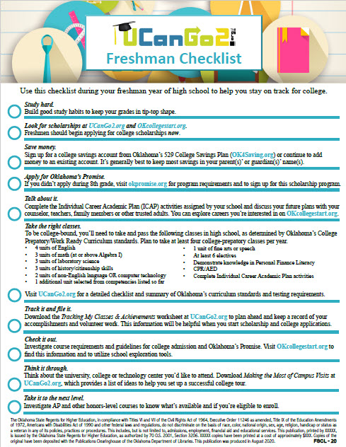 PDF of College Planning Checklists