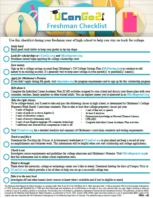 College Planning Checklists