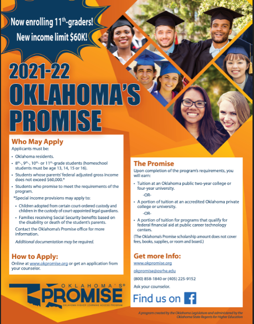 PDF of Oklahoma's Promise Flyer opens in a new tab