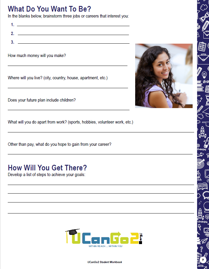 What Do You Want to Be? Handout PDF opens in a new tab